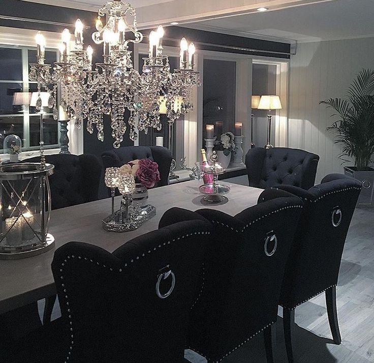 Black Dining Room 2017: Pinterest: @ A M I N A T A