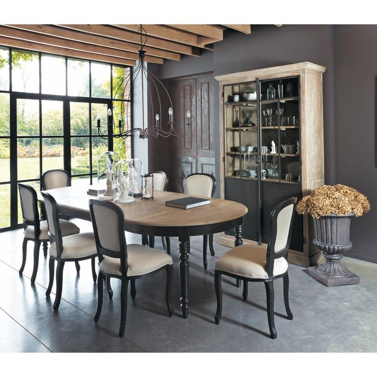 salle manger table de salle manger en ch ne l 125 cm. Black Bedroom Furniture Sets. Home Design Ideas