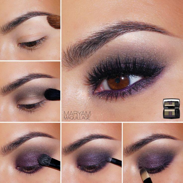 Tendance maquillage yeux 2017 2018 fall purple smokey - Maquillage tendance 2017 ...