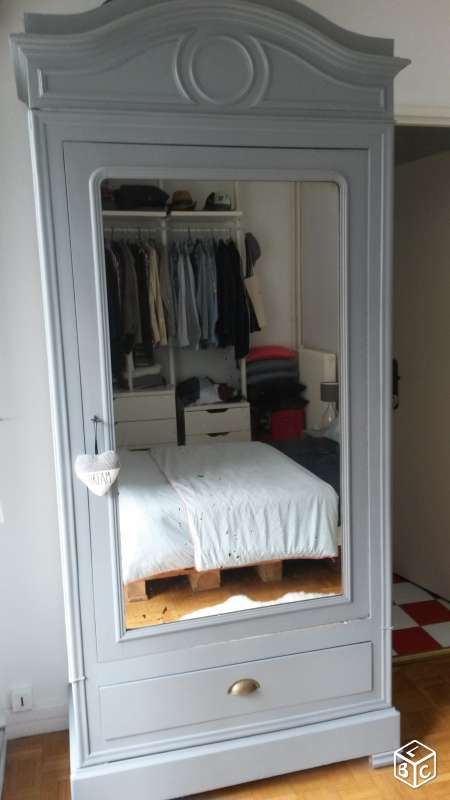 comment relooker une armoire ancienne good meuble louis. Black Bedroom Furniture Sets. Home Design Ideas