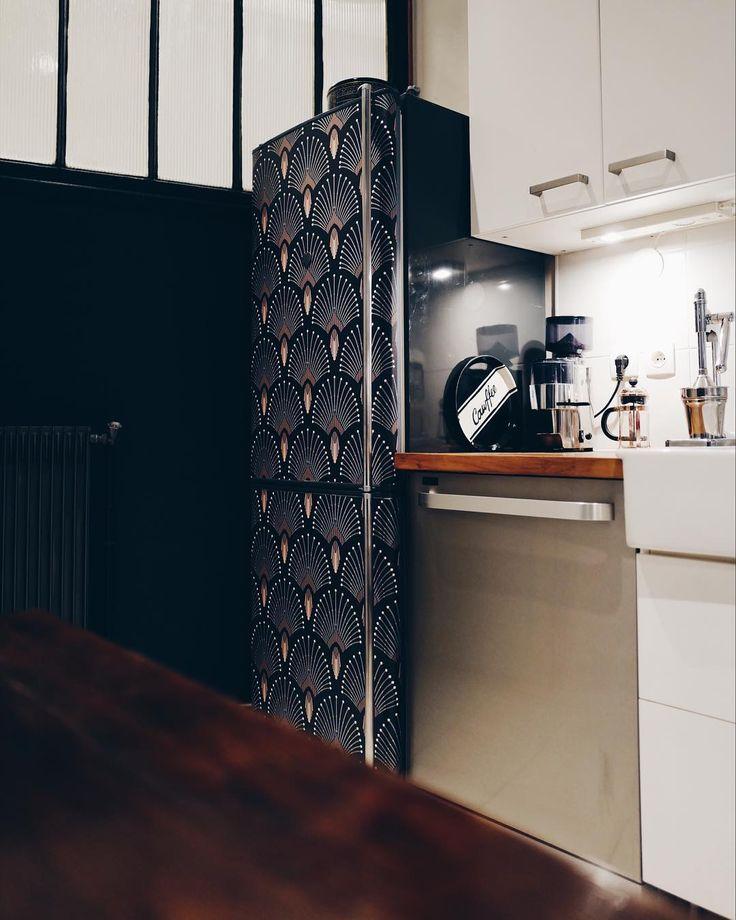 Id e relooking cuisine cuisine dans appartement parisien for Relooking appartement