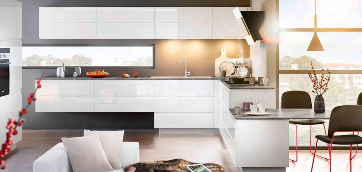 Idée relooking cuisine - cuisine moderne et contemporaine blanche ...