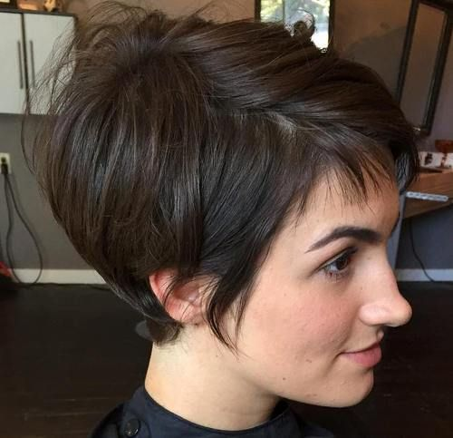 Id es coupe cheveux pour femme 2017 2018 35 coiffures brunes courtes et coupe cheveux - Coupe courte femme brune 2017 ...
