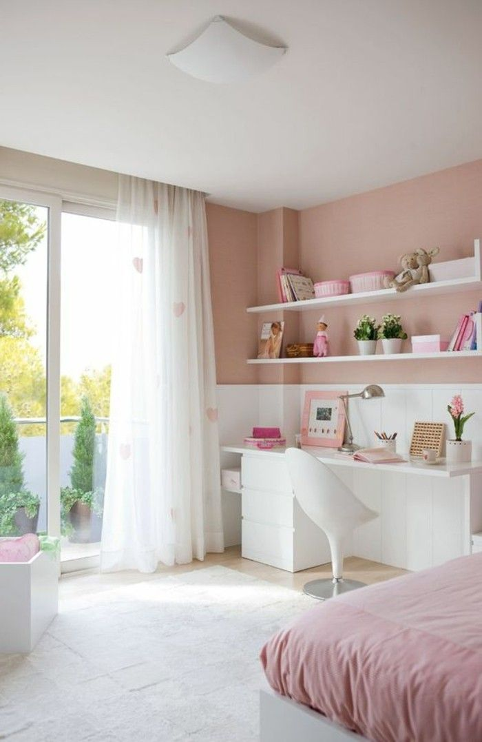 conforama chambre fille en rose p le et blanc idee deco. Black Bedroom Furniture Sets. Home Design Ideas