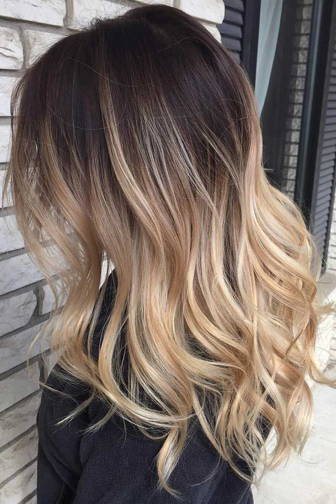 Black and blonde ombre hair color for