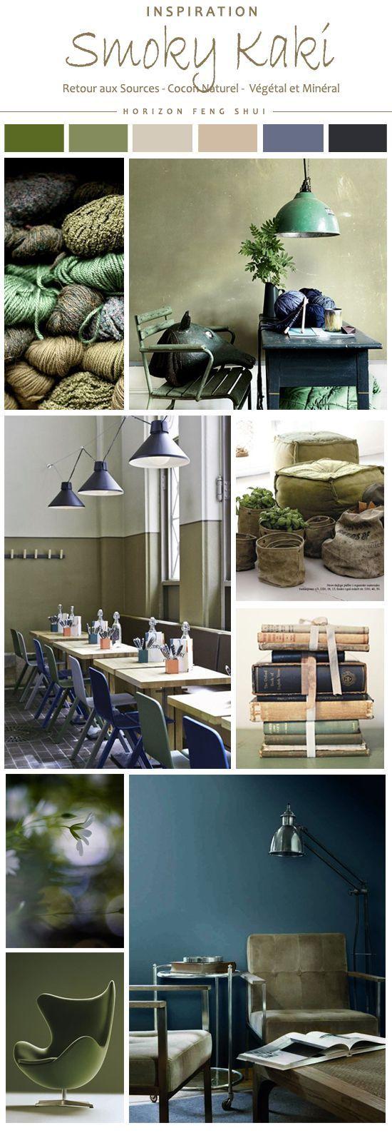 D co salon smoky kaki couleur feng shui tendances d co for Deco nature salon