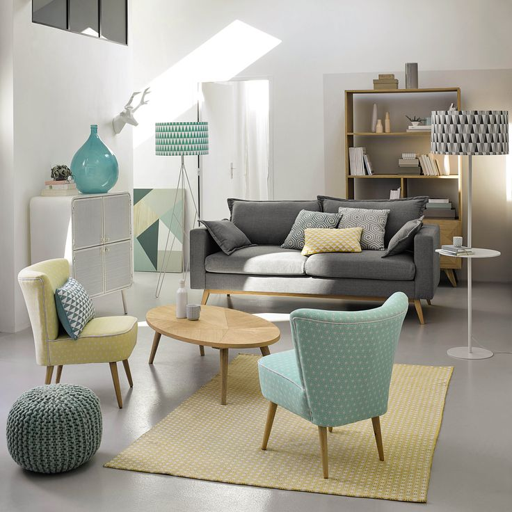Déco Salon Canapé Convertible Places En Tissu Gris Clair Duke - Canapé 3 places pour relooking de cuisine