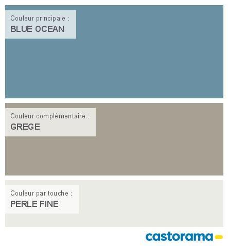 Déco Salon - Castorama Nuancier Peinture - Mon harmonie Peinture BLUE OCEAN mat de COLOURS C ...