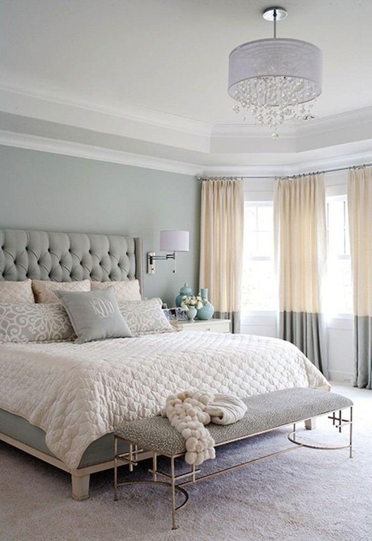 Déco Salon - chambre adulte avec peinture couleur pastel et accents ...