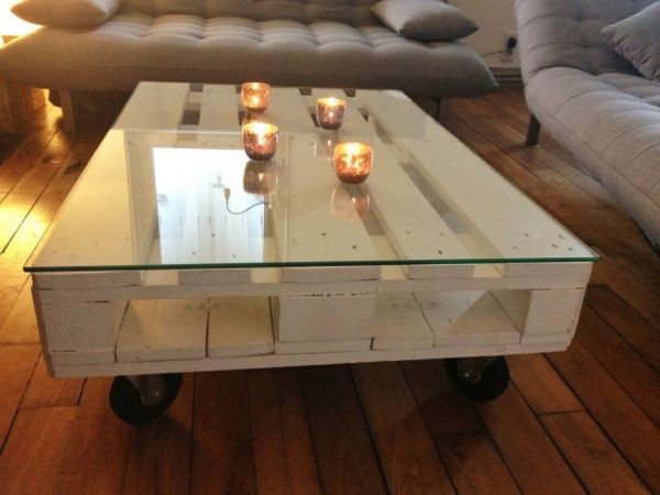 D co salon construire table basse palette r cup et d co simpa table - Comment faire une table en palette ...