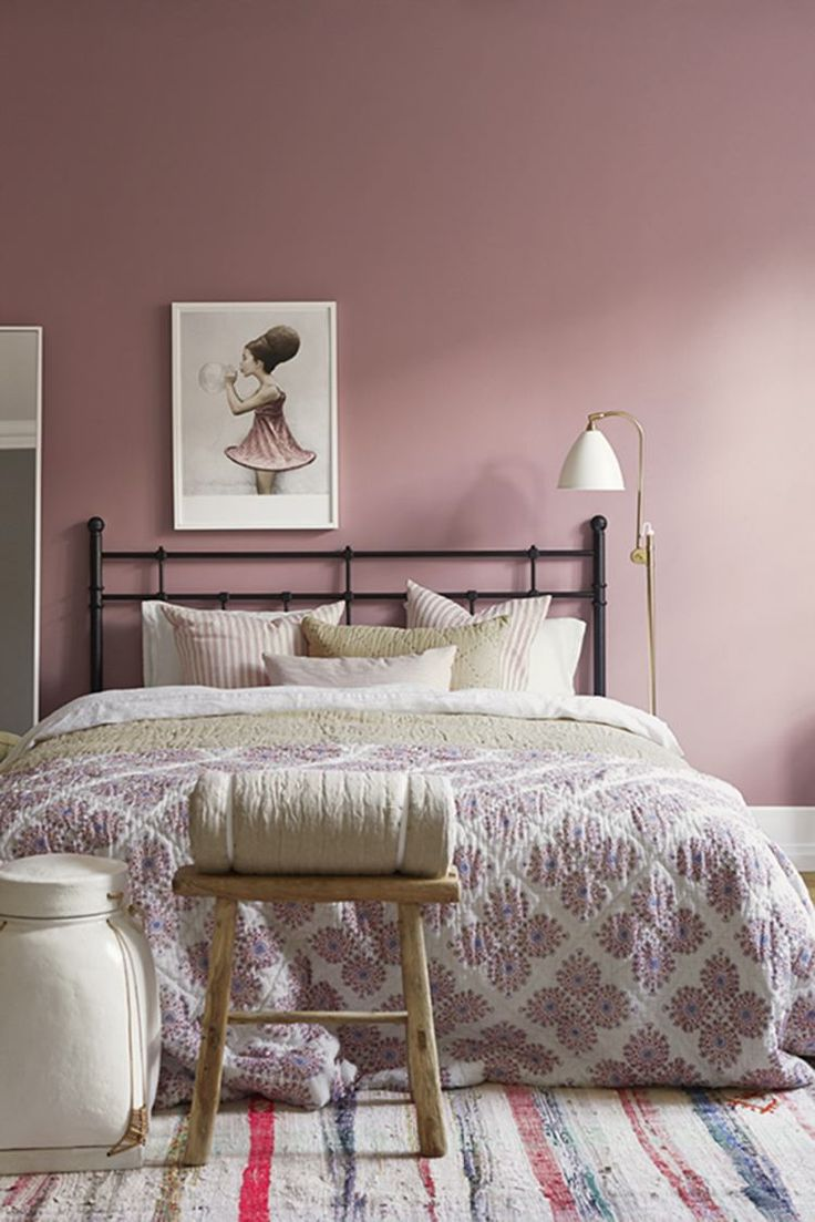 d co salon couleur peinture chambre rose poudr romantique et agr able. Black Bedroom Furniture Sets. Home Design Ideas