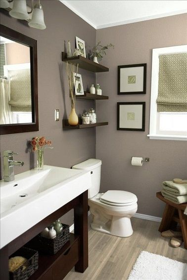 d co salon dans cette salle de bain la couleur taupe tapisse les murs tout en s 39 accorda. Black Bedroom Furniture Sets. Home Design Ideas
