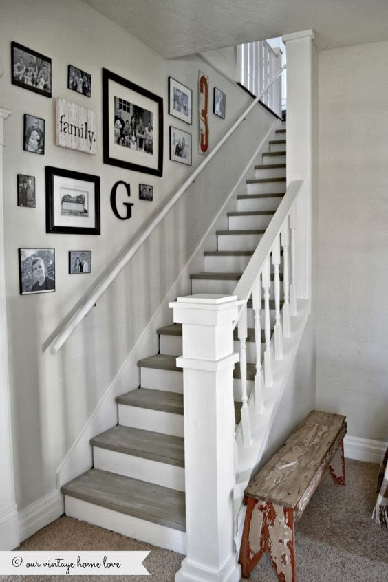 D co salon d coration mur escalier leading inspiration culture - Comment decorer une montee d escalier ...