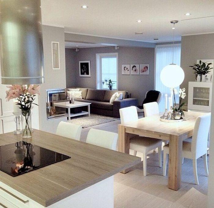 Decoration Cuisine Salon Ouvert  Ide De Modle De Cuisine