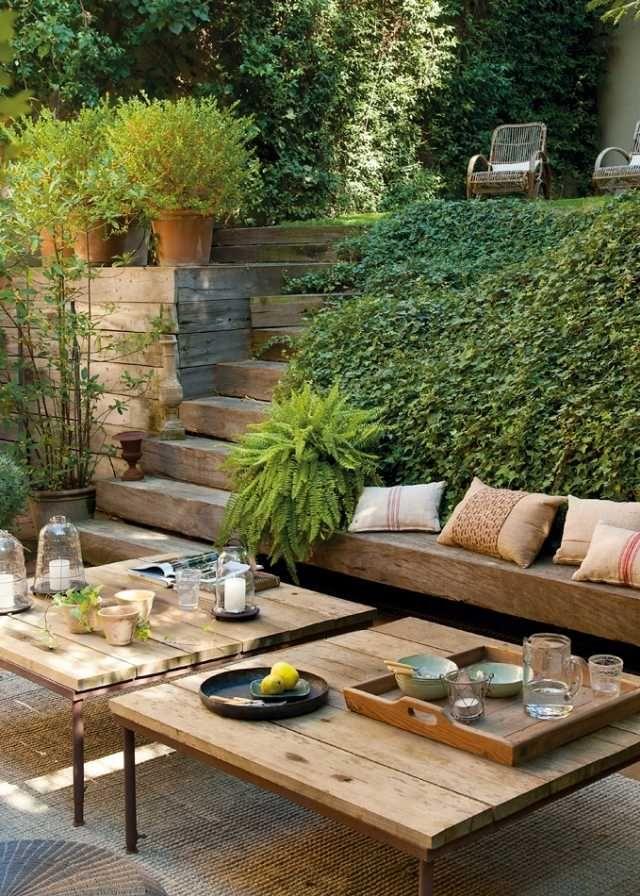 Déco Salon - idée d\'aménagement paysager jardin-sur-pente-lierre. Le ...