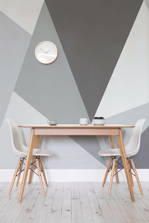 d co salon peinture murale formes leading inspiration culture. Black Bedroom Furniture Sets. Home Design Ideas