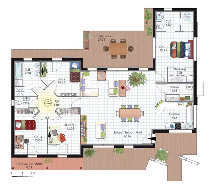 D co salon plan de maison d 39 architecte listspirit for Plan de salon de maison