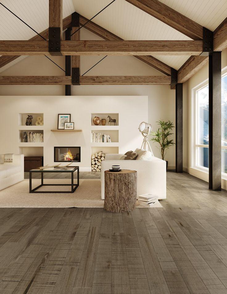 d co salon planchers de bois franc preverco la nature au c ur d un s jour rable. Black Bedroom Furniture Sets. Home Design Ideas