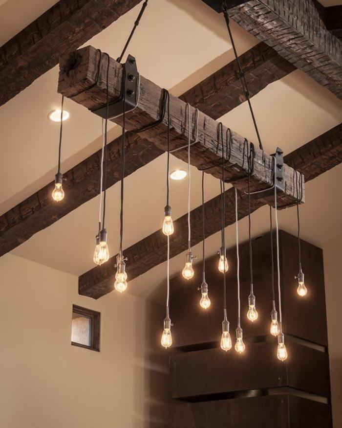 Déco Salon - poutre en bois, plafond avec poutres en bois apparentes ...