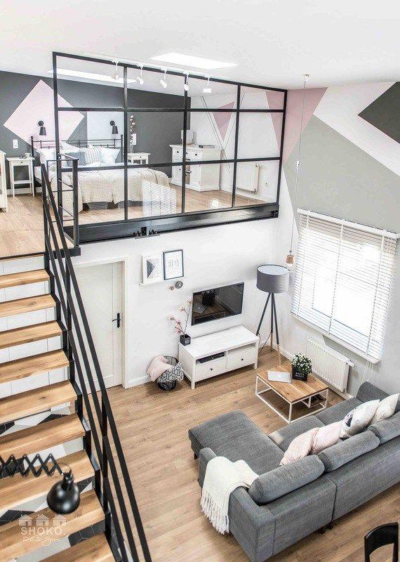 d co salon shokodesign duplex decora o apartamento duplex ideias home decor design. Black Bedroom Furniture Sets. Home Design Ideas