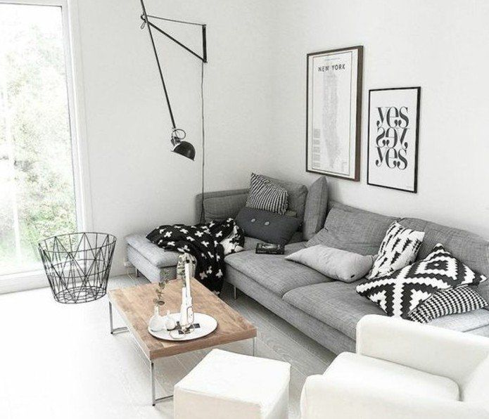 Beautiful Salon Blanc Deco Contemporary - Awesome Interior Home ...