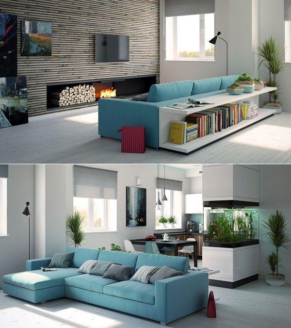 Déco Salon - un meuble adossé au canapé... - ListSpirit.com ...