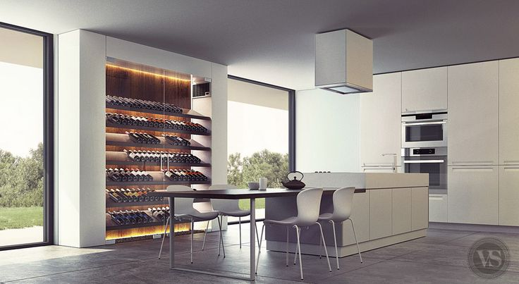 d co salon une cave vin contemporaine qui s 39 int gre. Black Bedroom Furniture Sets. Home Design Ideas