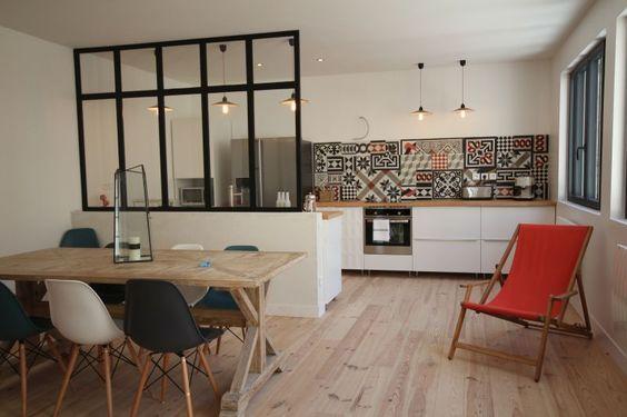Déco Salon - Une Cuisine Ouverte Avec Mini Verrière Déco