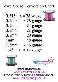 Diy bijoux wire gauge conversion chart wire jewelry tutorials description wire gauge conversion chart greentooth Images
