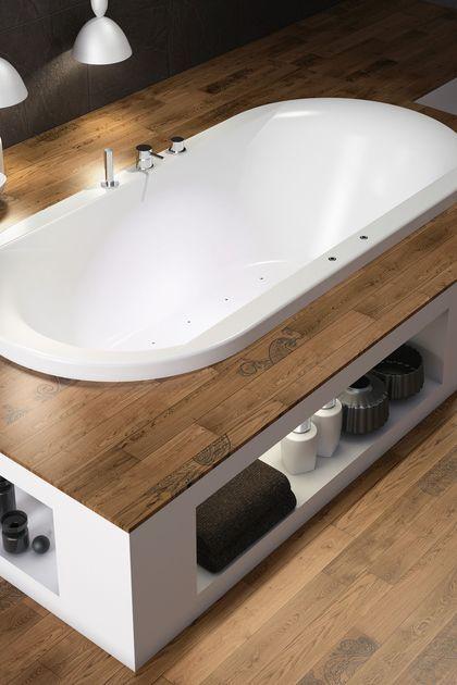 Id e d coration salle de bain baignoire zen encastr e for Estrade salle de bain