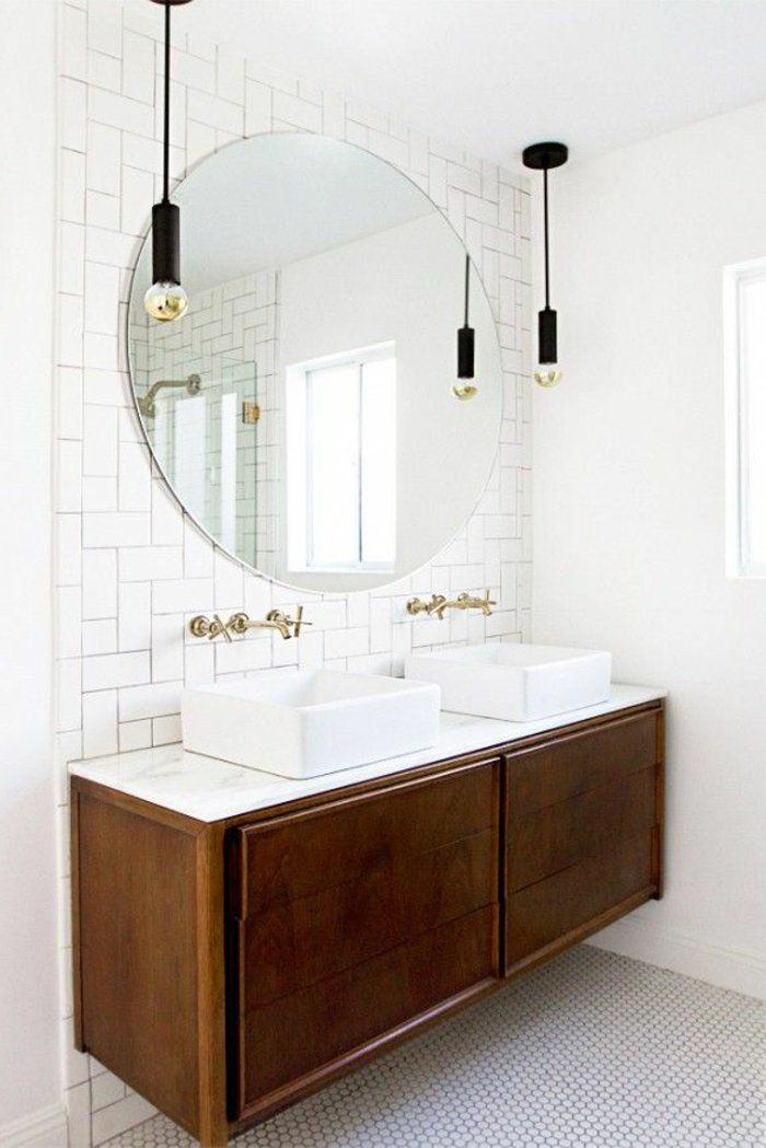 stunning lavabo double vasque retro pictures amazing house design. Black Bedroom Furniture Sets. Home Design Ideas