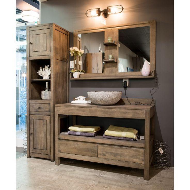Id e d coration salle de bain gbi vanit en bois - Deco salle de bain bois ...