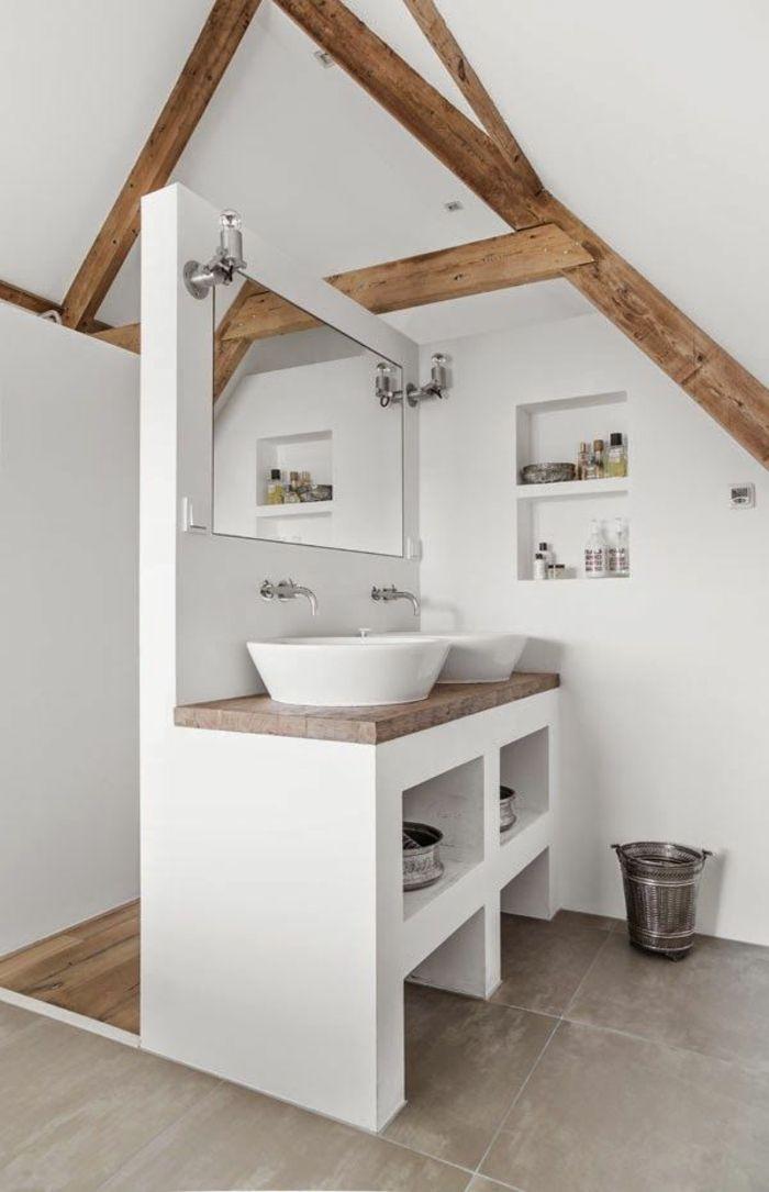 Idée Décoration Salle De Bain Jolie Salle De Bain De Style - Amenagement salle de bain combles
