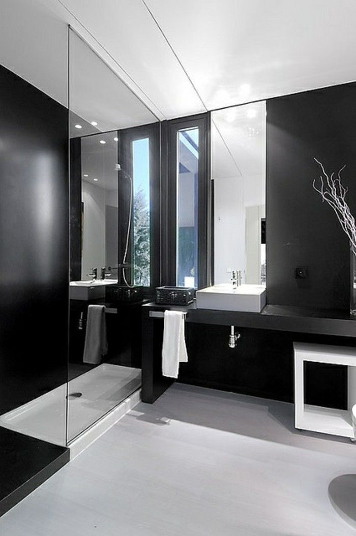 id e d coration salle de bain la beaut de la salle de bain noire en 44 images listspirit. Black Bedroom Furniture Sets. Home Design Ideas