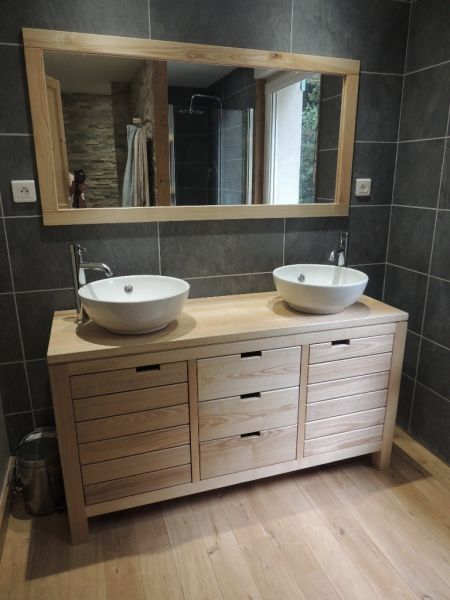 deco salle de bain meuble bois