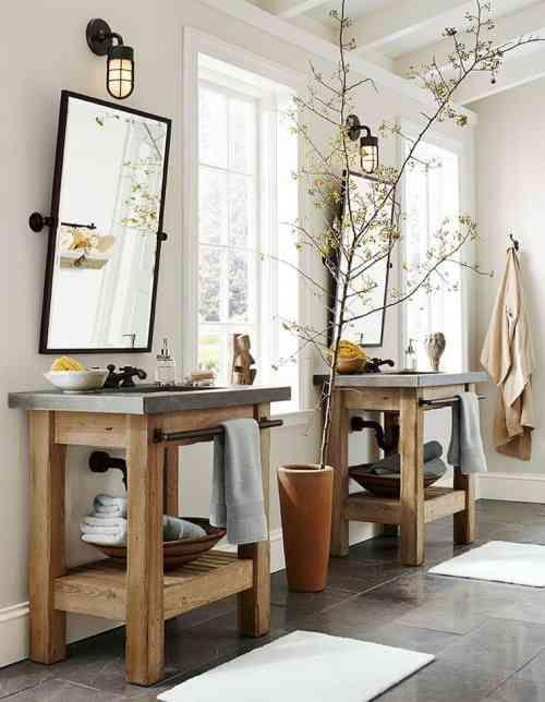 id e d coration salle de bain meuble de salle de bains pas cher en bois et pierre. Black Bedroom Furniture Sets. Home Design Ideas