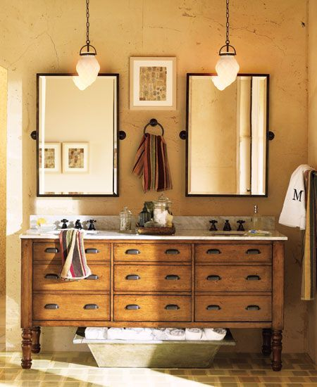 Idée décoration Salle de bain - Meuble salle de bain double vasque ...