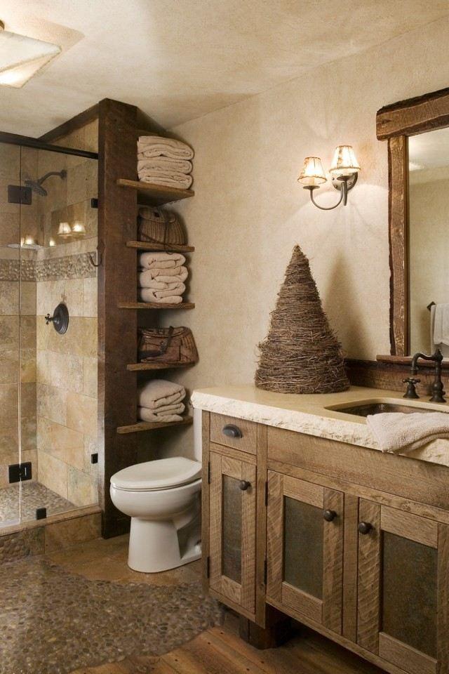 Idée décoration Salle de bain - meubles salle de bain bois-style ...