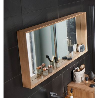 best miroir salle de bain bois photos. Black Bedroom Furniture Sets. Home Design Ideas