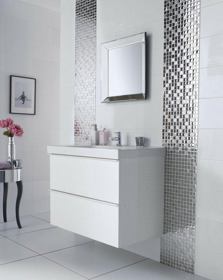 id e d coration salle de bain peinture carrelage salle de bain blanche et une mosa que verre. Black Bedroom Furniture Sets. Home Design Ideas