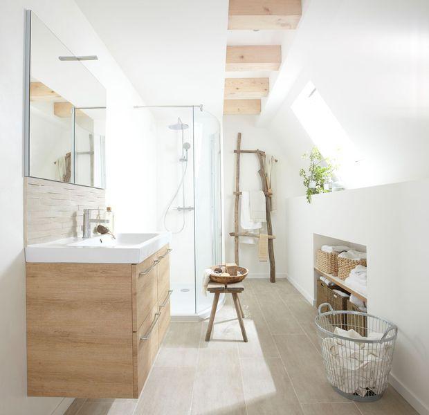 Id e d coration salle de bain plan de salle de bains de 5 11 m conseils d 39 architecte et - Plan salle de bain moderne ...