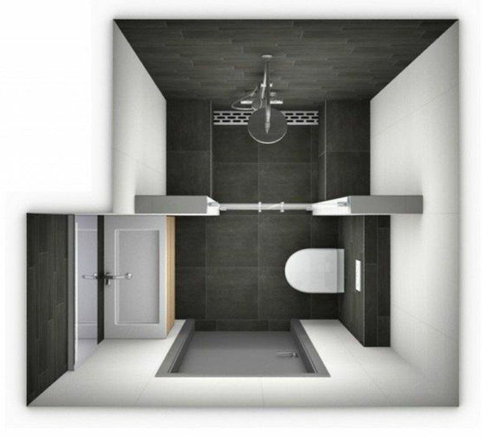 id e d coration salle de bain plan salle de bain 3m2. Black Bedroom Furniture Sets. Home Design Ideas