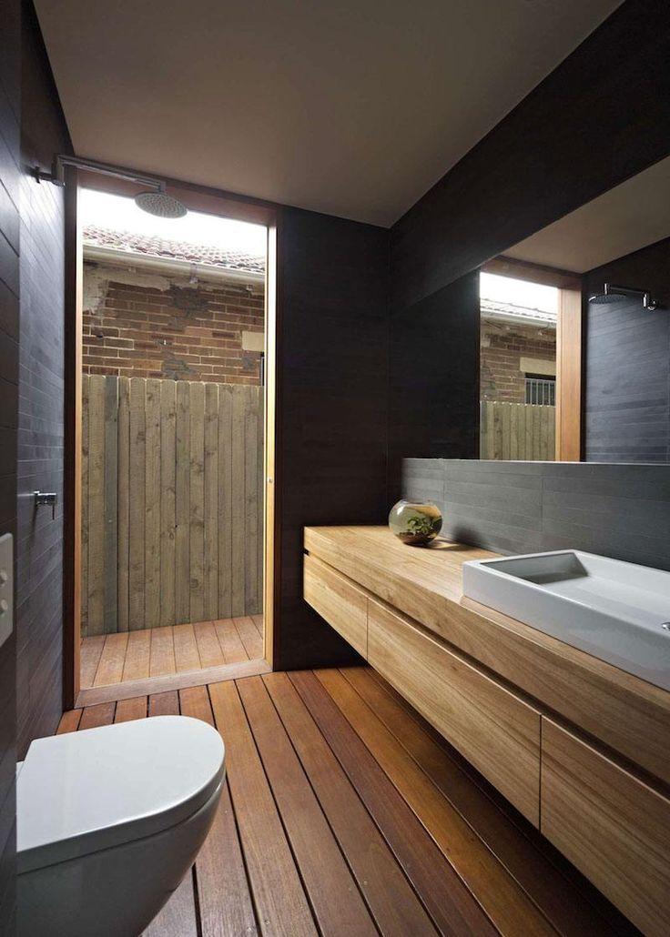 id e d coration salle de bain rev tements et meubles salle de bain bois massif et douche. Black Bedroom Furniture Sets. Home Design Ideas