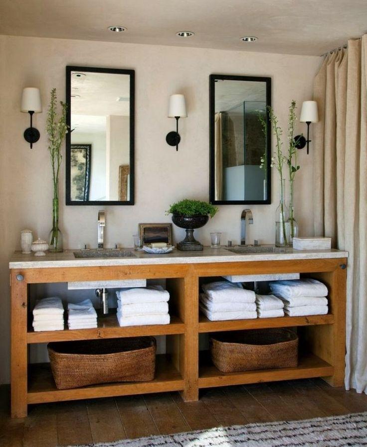 Idée décoration Salle de bain - salle de bain rustique avec des ...