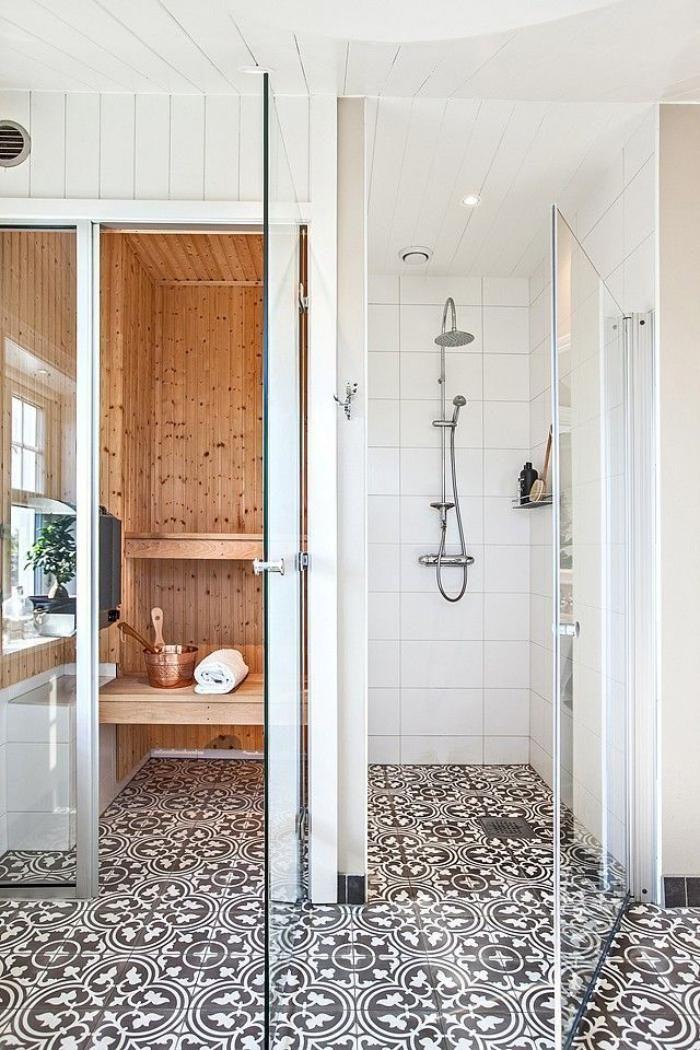 Idée décoration Salle de bain - salle de bain scandinave, déco ...