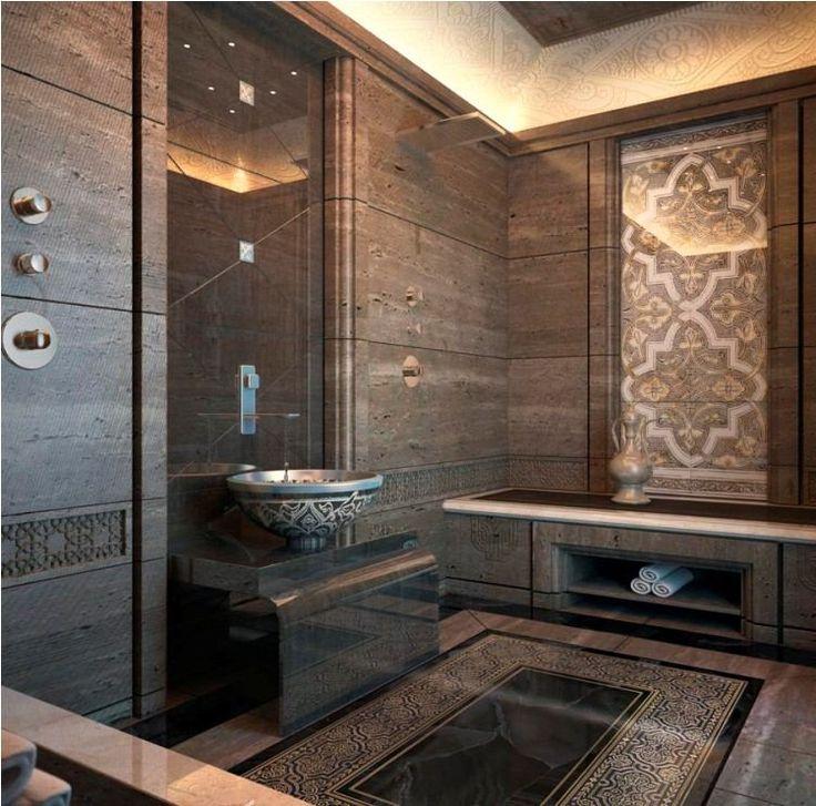 Id e d coration salle de bain salle de bains marocaine for Decor mural salle de bain