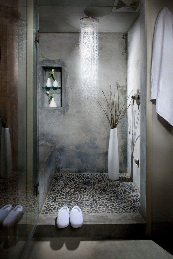 Id e d coration salle de bain salle de bains zen tactile - Cailloux de decoration ...