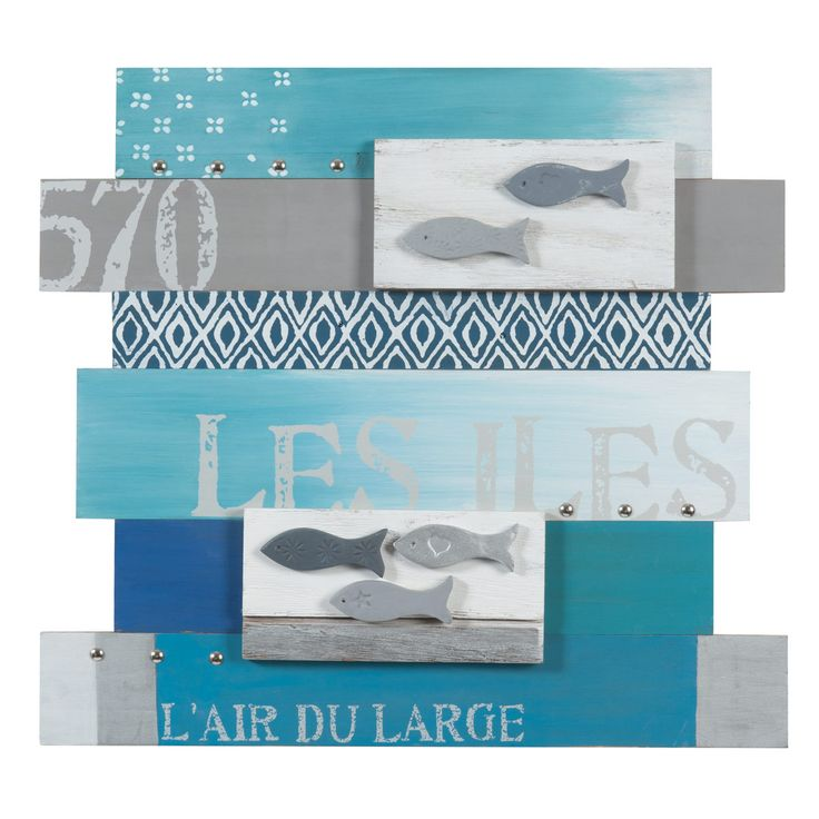 id e d coration salle de bain tableau lattes mer des les leading. Black Bedroom Furniture Sets. Home Design Ideas