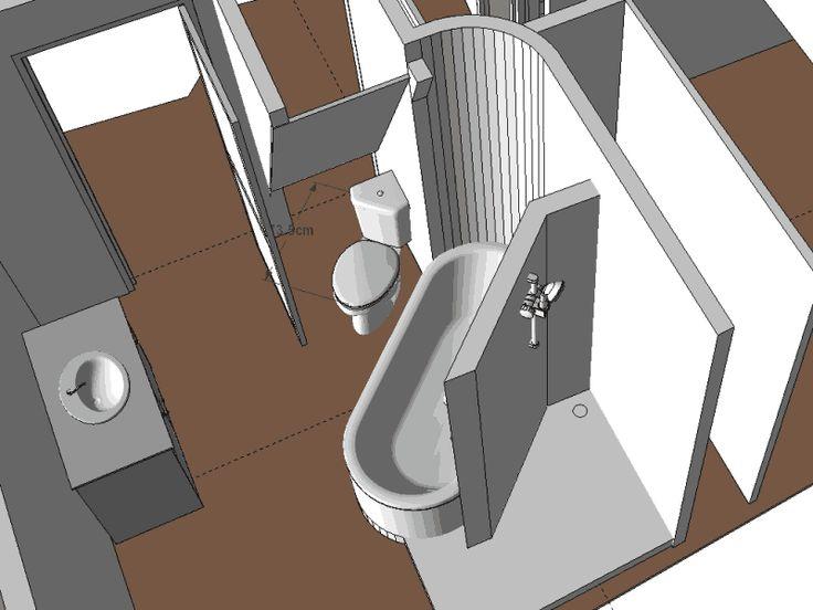 id e d coration salle de bain une id e pour mettre une baignoire une douche l 39 italienne. Black Bedroom Furniture Sets. Home Design Ideas