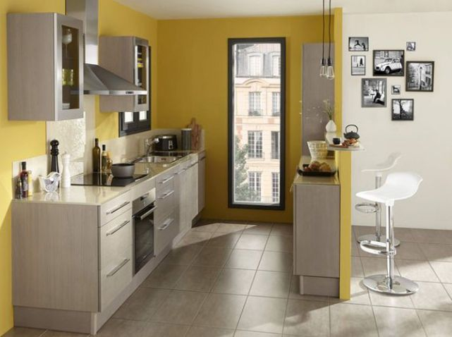 id e relooking cuisine commentaire elle maison cuisine mur jaune lapeyre le jaune. Black Bedroom Furniture Sets. Home Design Ideas